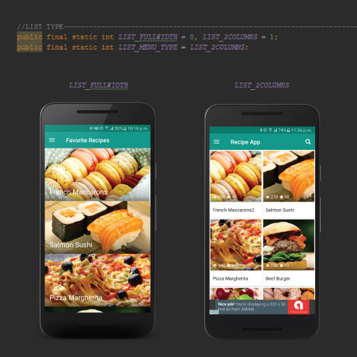 Ultimate recipe app template documentation by melvin zammit grid view or card view forumfinder Image collections